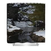 Trout Hatchery Falls Shower Curtain