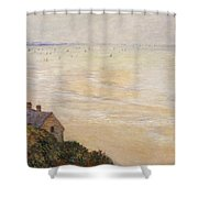 Trouville At Low Tide Shower Curtain