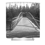 Trowbridge Falls Bridge Bw Shower Curtain