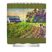 Troy's Memories Shower Curtain by Kathy Braud