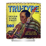 Tru - Type Vintage Fruit Crate Label Shower Curtain