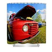 Truck Headlight Shower Curtain