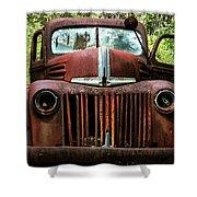 Truck In Medow Shower Curtain
