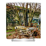 Truck N Tree Shower Curtain