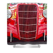 Truck Red Shower Curtain
