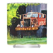 Truck Rusted Shower Curtain