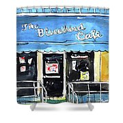 True Blue Bird Shower Curtain