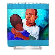 True Brotherly Love Shower Curtain