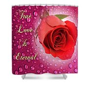 True Love Is Eternal Shower Curtain