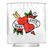 True Love Tattoo Shower Curtain