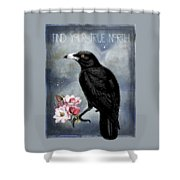 True North Crow And Magnolias Shower Curtain