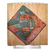 True Shepherd - Tile Shower Curtain