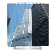 Trump Building From Other Side Shower Curtain