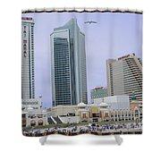 Trump Palace Tajmahal Hotel Atalantic Beaches And Board Walk America Photography By Navinjoshi At  Shower Curtain