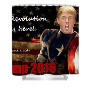 Trump Revolution Shower Curtain by Guy  Cannon