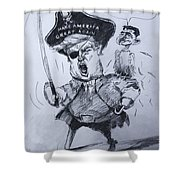 Trump, Short Fingers Pirate With Ryan, The Bird  Shower Curtain