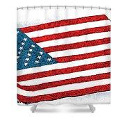 Trump Sweeps Under The Flag Rug Shower Curtain