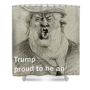 Trump The Imbecile Shower Curtain