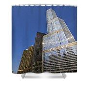 Trump Tower And Marina City Shower Curtain