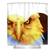 Trumped Gold On White Shower Curtain