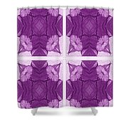 Trumpet Flowers In Abstract Shower Curtain