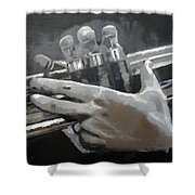 Trumpet Hands Shower Curtain