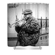 Trumpet In The Rain 2 - Nola Shower Curtain