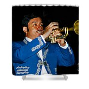 Trumpet Player Shower Curtain