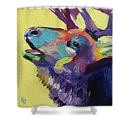 Trumpeting Shower Curtain