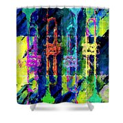 Trumpets Abstract Shower Curtain