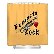 Trumpets Rock Shower Curtain