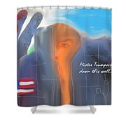 Trump's Wall Shower Curtain