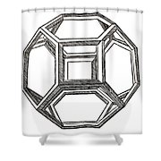 Truncated Octahedron With Open Faces Shower Curtain
