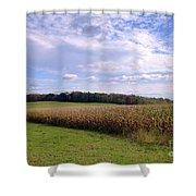 Trusting Harvest Shower Curtain