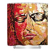 Truth Is Eternal, Asian Painting Shower Curtain