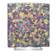Try Angles Of Circles Shower Curtain