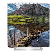 Tryfan Reflections Shower Curtain