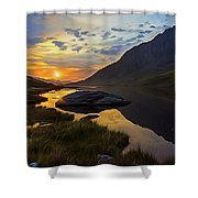 Tryfan Surnise Shower Curtain