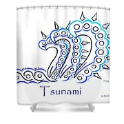 Tsunami Shower Curtain