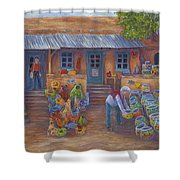 Tubac Pottery Shop Shower Curtain