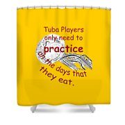Tubas Practice When They Eat Shower Curtain
