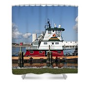 Tuboat Indian River Shower Curtain