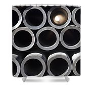 Tubular Abstract Art Number 10 Shower Curtain