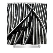 Tubular Abstract Art Number 13 Shower Curtain