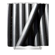 Tubular Abstract Art  Number 5 Shadow And Light  Shower Curtain