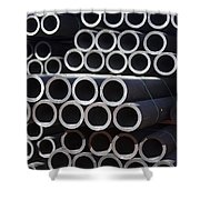 Tubular Abstract Art Number 7 Shower Curtain