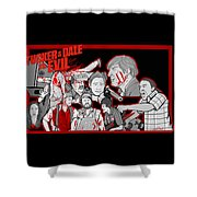 Tucker And Dale Vs. Evil Shower Curtain by Gary Niles