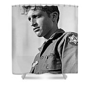 Tucson Arizona Army Reservist Taking Part In Summer Camp Exercise Death Valley  Ca 1968 Shower Curtain
