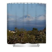 Tucson In Winter Shower Curtain