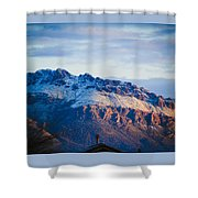 Tucson Mountains Snow Shower Curtain